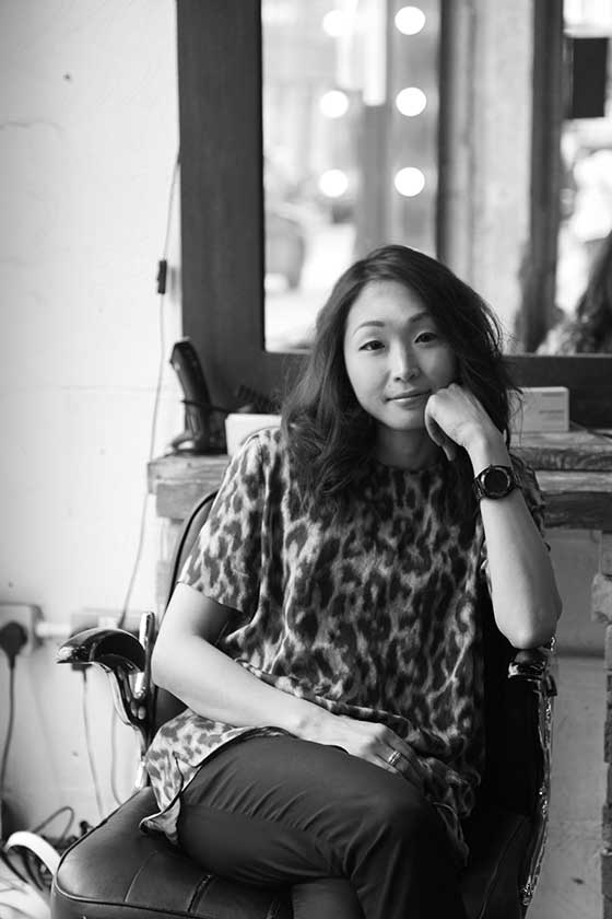 Chiaki - senior stylist at ESHK Hair Barbican