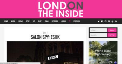 LondonTheInside review of ESHK Hair Clerkenwell