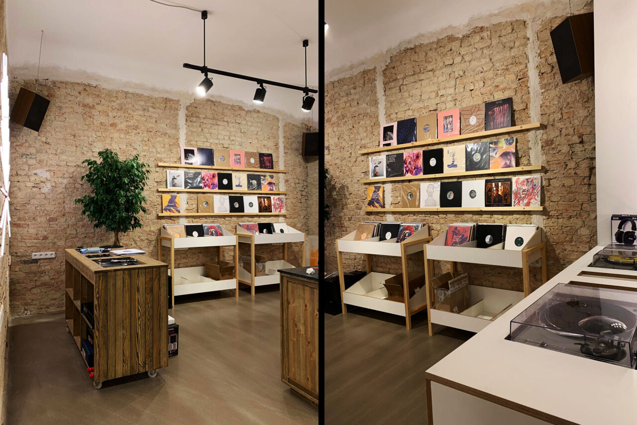 dj booth and record store plattenladen moabit berlin