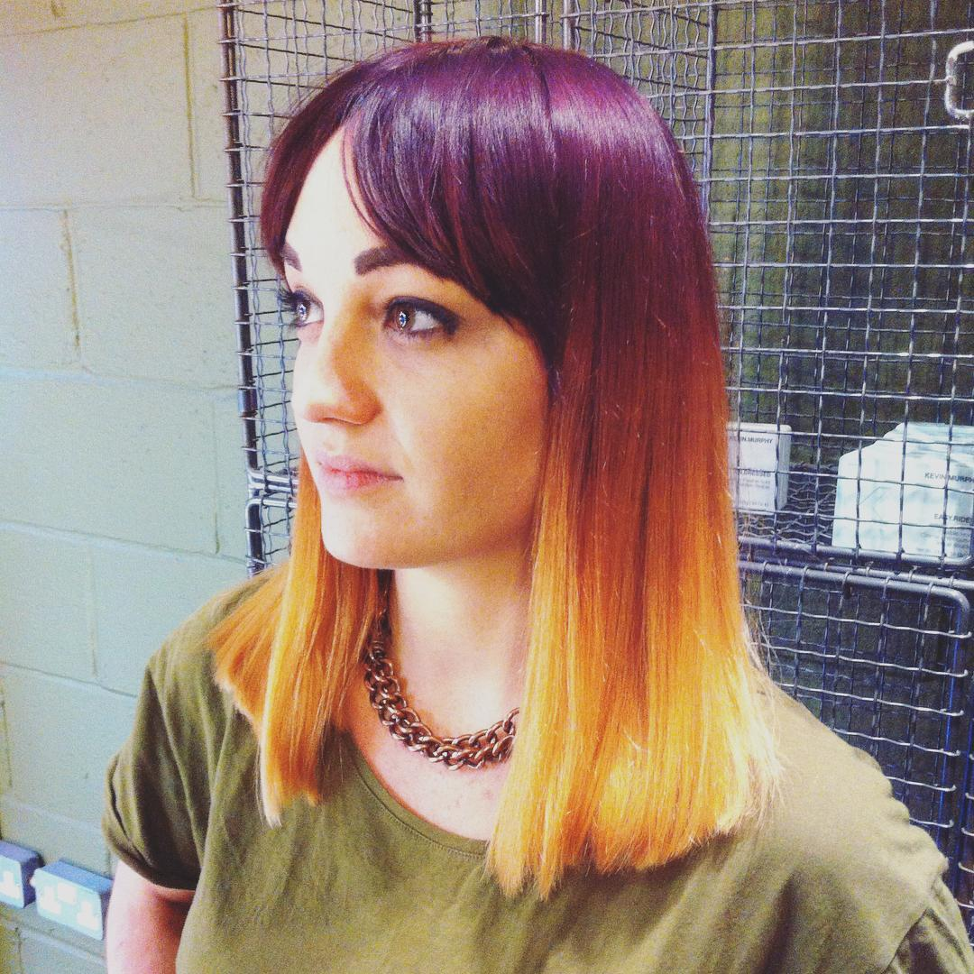 purple to ginger balayage in old street london