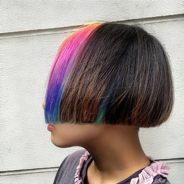 rainbow to natural hair colour in hoxton
