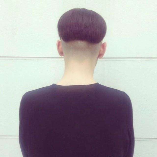 round black short undercut mens haircut