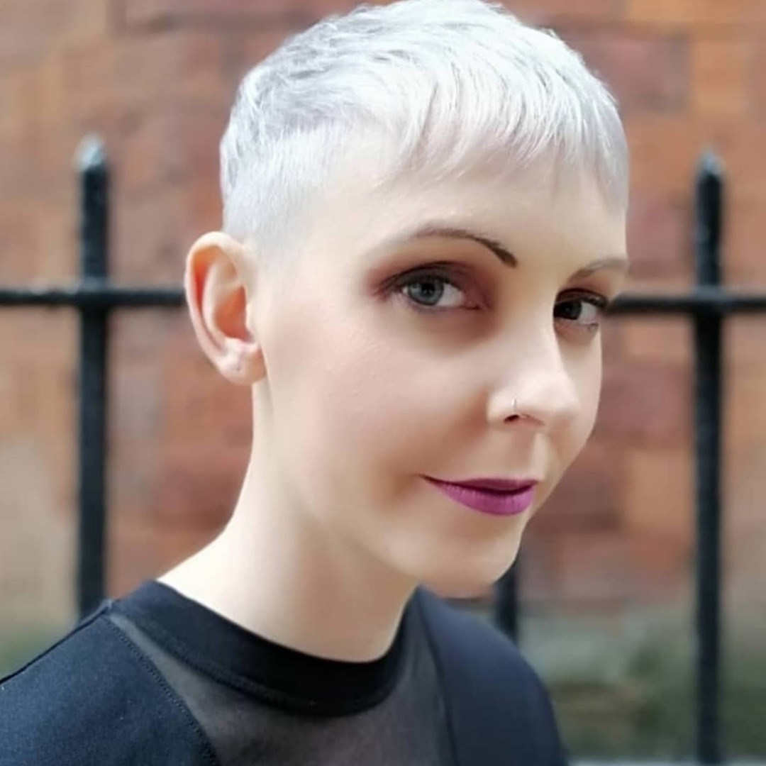 short white blonde womens haircut in clerkenwell london