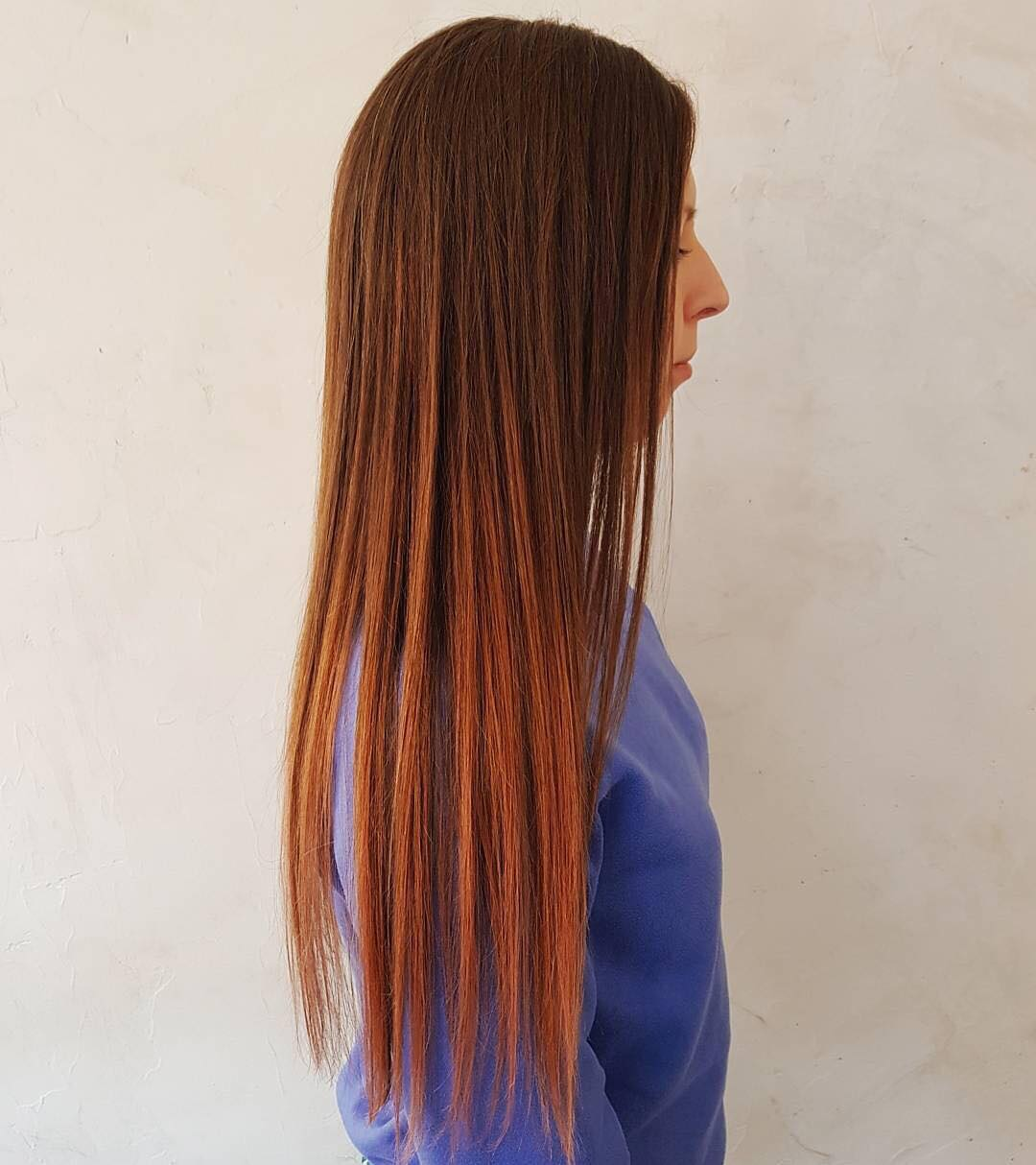 smooth long red hair brazilian treatment london