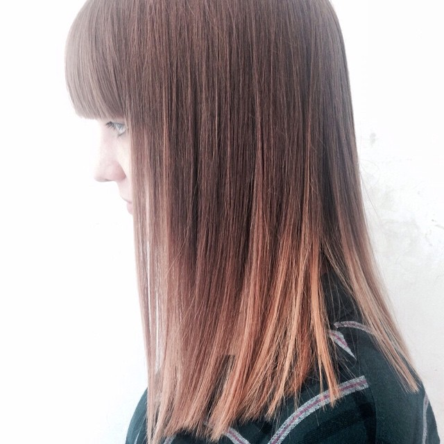 womens balayage in angel copper to ginger